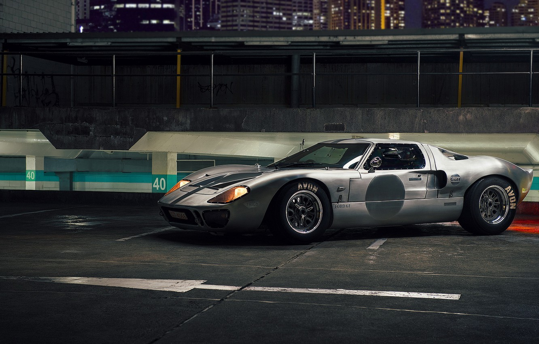 Photo wallpaper night, supercar, autowalls, Ford GT40