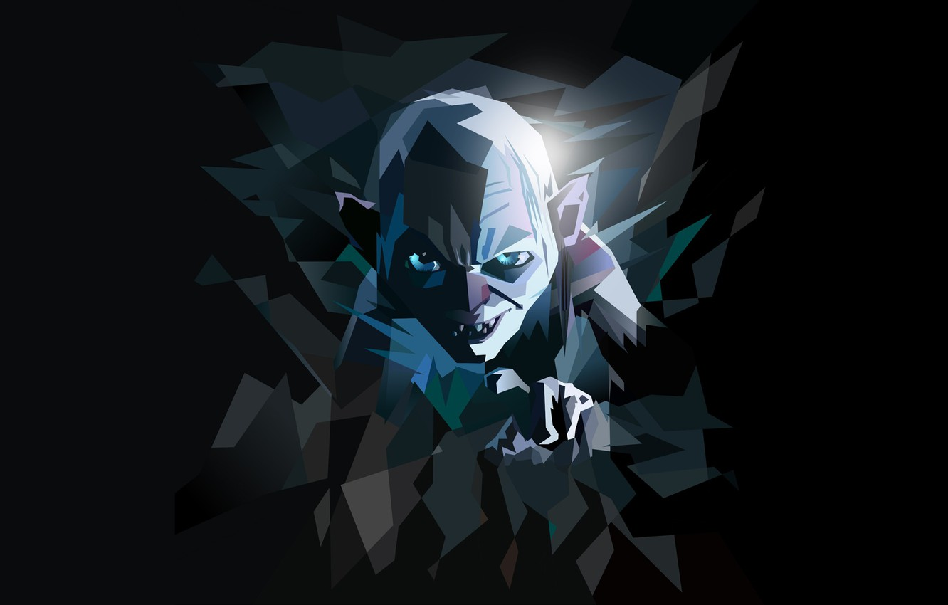 Wallpaper Minimalism Gollum The Lord Of The Rings The Lord Of
