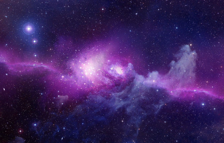 Photo wallpaper stars, lights, nebula