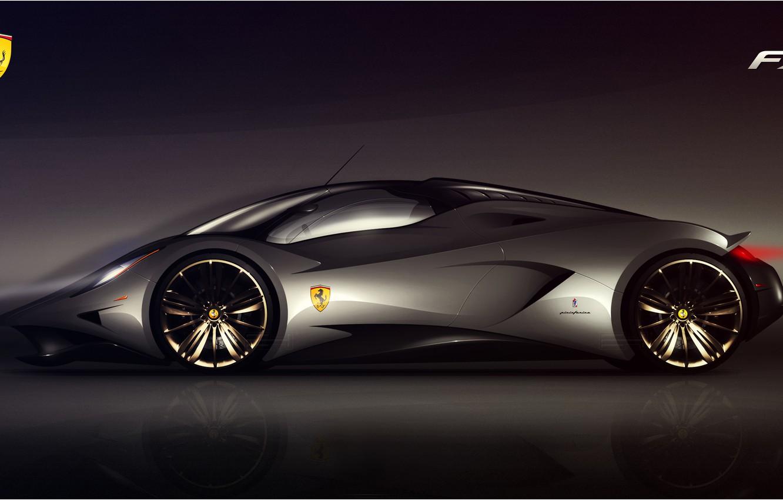 Photo wallpaper Ferrari, prototype