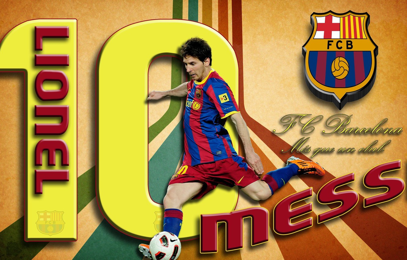 Photo wallpaper wallpaper, sport, football, Lionel Messi, player, FC Barcelona, My As a Club, More Then a …