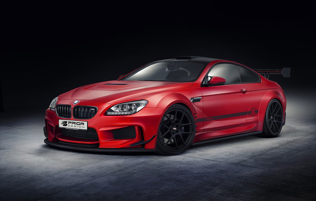 Photo wallpaper auto, tuning, BMW, coupe, red, bmw m6, prior design