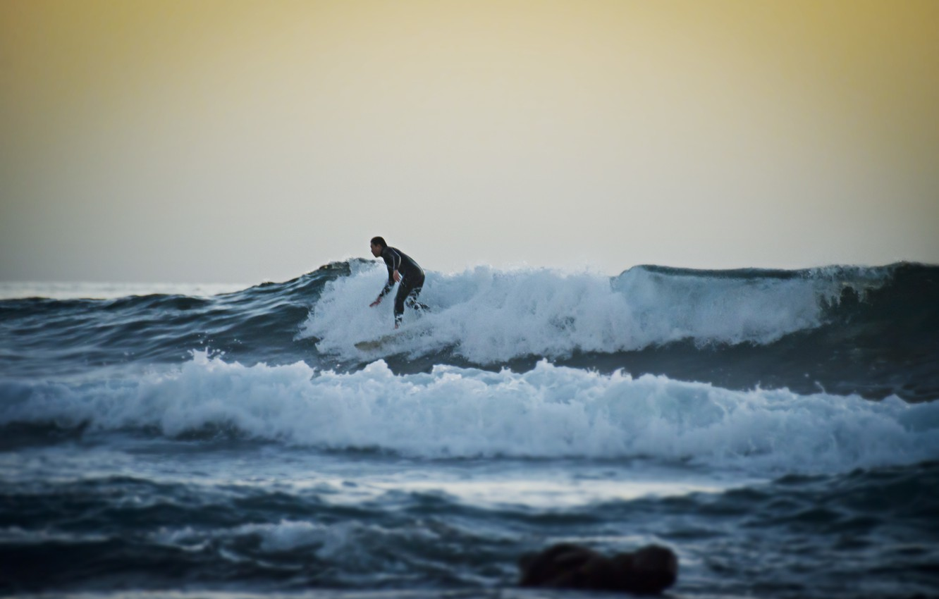 Wallpaper Wave Sunset Surfer Surfing Extreme Sports