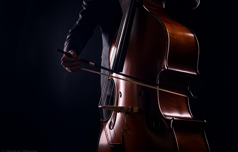 Photo wallpaper music, background, Kontrabass