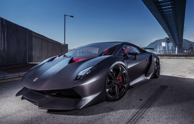 Photo wallpaper Lamborghini, carbon, sesto, elemento