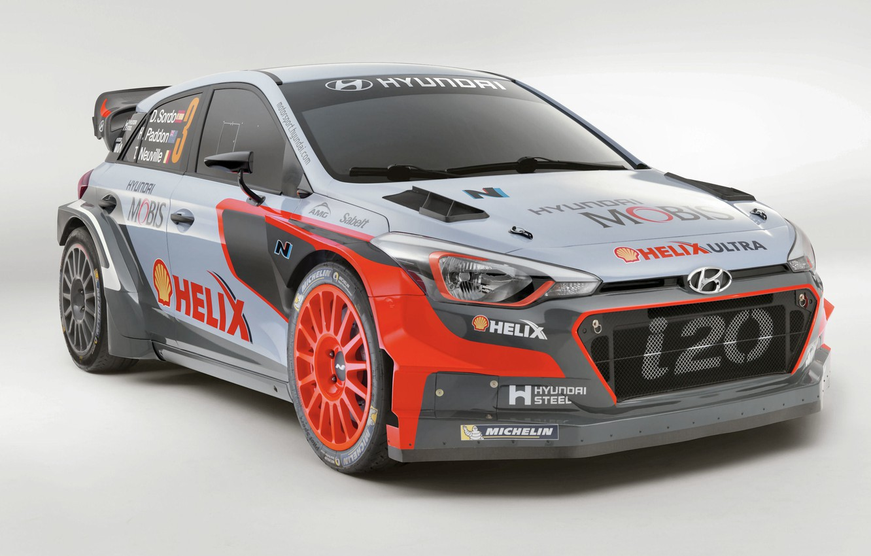 Photo wallpaper Hyundai, WRC, Rally, i20, 2016
