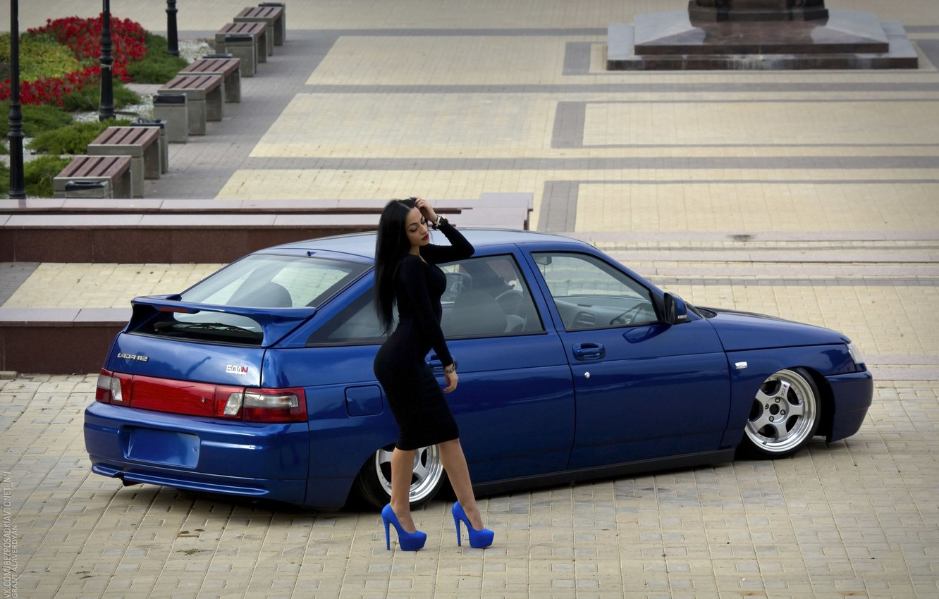 Photo wallpaper girl, Lada, Lada, 2112, VAZ, BPAN