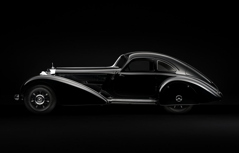 Photo wallpaper auto, retro, Mercedes