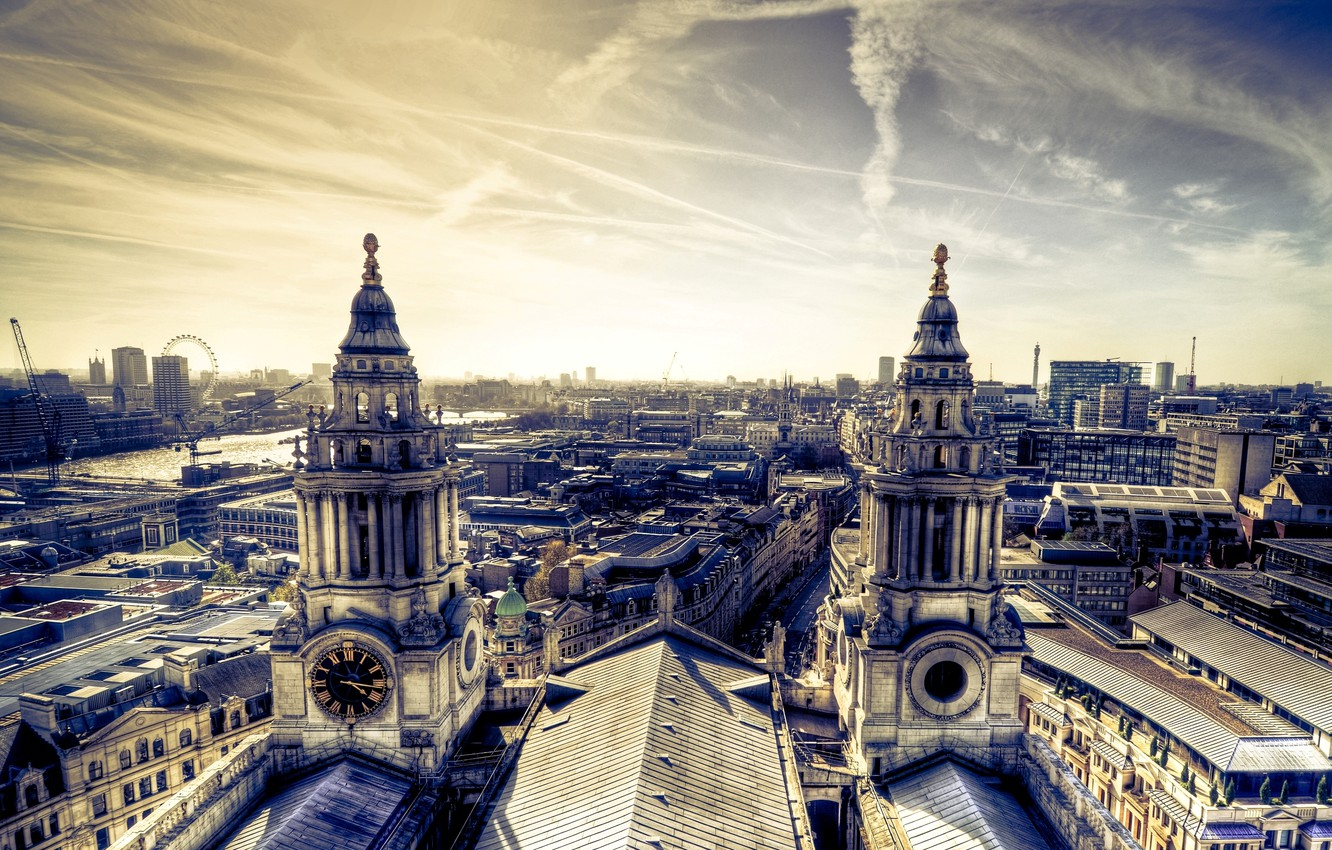 Photo wallpaper the sky, the city, background, Wallpaper, pictures, building, home, panorama, architecture, buildings, wallpapers