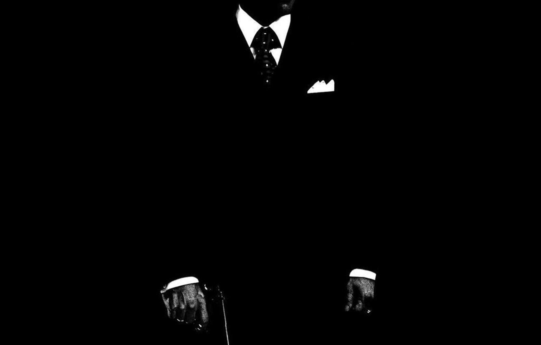 Photo wallpaper Man, silhouette, Tuxedo