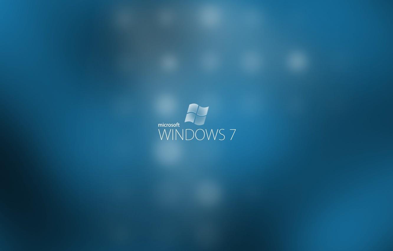 Photo wallpaper blue, computers, seven, windows, microsoft, computers