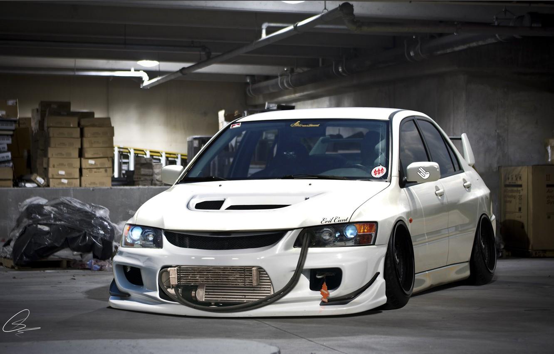 Photo wallpaper Mitsubishi, Lancer, Evolution, Evil