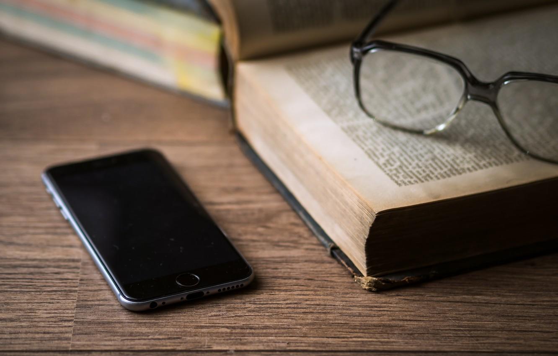 Photo wallpaper iPhone, book, book