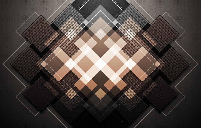 Photo wallpaper Abstraction, rhombus, WMill, Ideekay