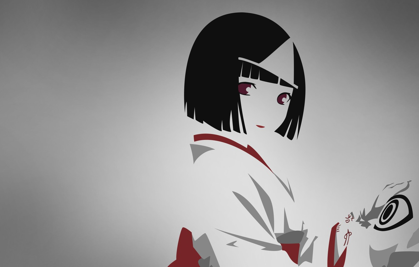 Photo wallpaper mask, grey background, A Homeless God, Noragami, youkai, Nora, the spell