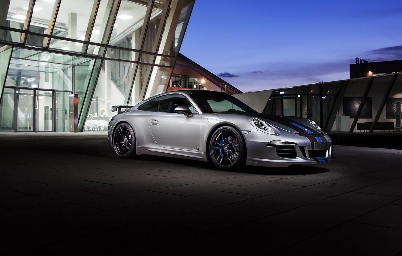 Photo wallpaper coupe, 911, Porsche, Porsche, Coupe, Carrera, GTS, 991, Carrera, TechArt, 2015