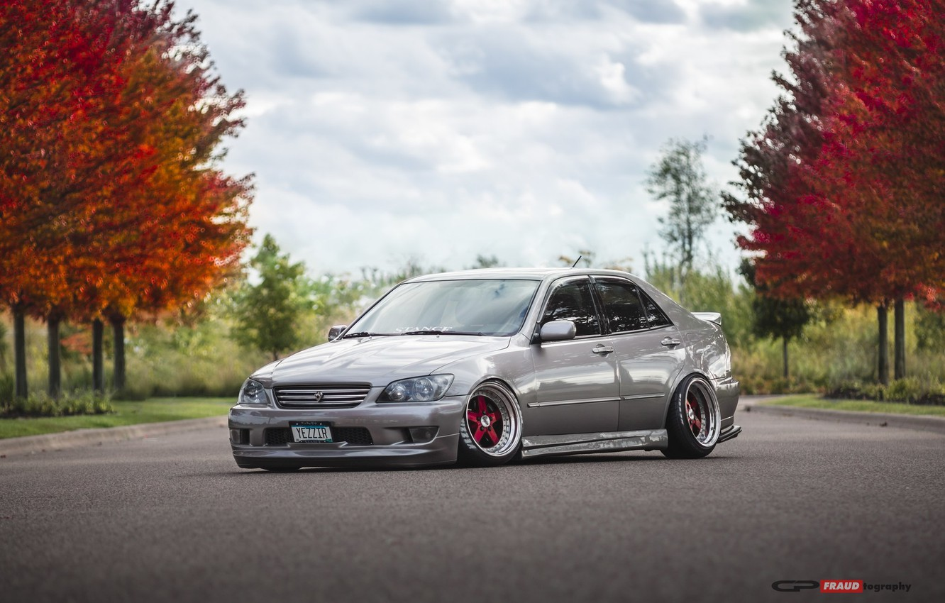 Photo wallpaper autumn, lexus, toyota, jdm, tuning, low, height, is200, stance