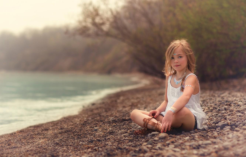Photo wallpaper shore, girl, the beauty, Beach, Lorna Oxenham
