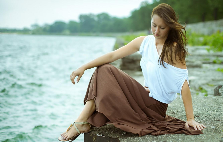 Photo wallpaper girl, pose, Anetta