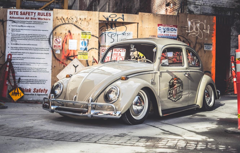 Photo wallpaper Central, Beetle, Volksvagen, Signs