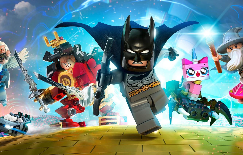 Photo wallpaper Batman, Gandalf, characters, Game, 2015, LEGO Dimensions