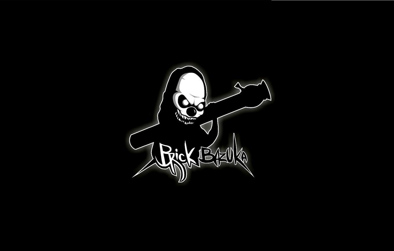 Photo wallpaper Minimalism, Music, Logo, Music, Black, Hip-Hop, Brick Bazuka, the Chemodan Clan