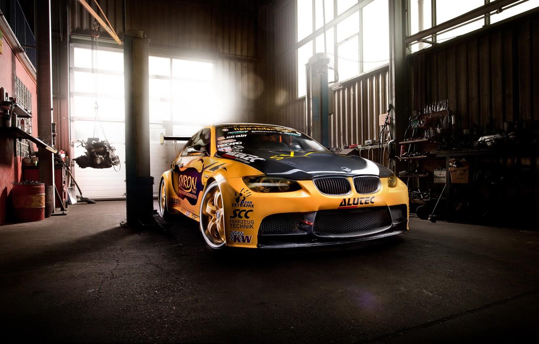 Photo wallpaper car, tuning, BMW, garage, bmw m3, rechange, GT2 E92