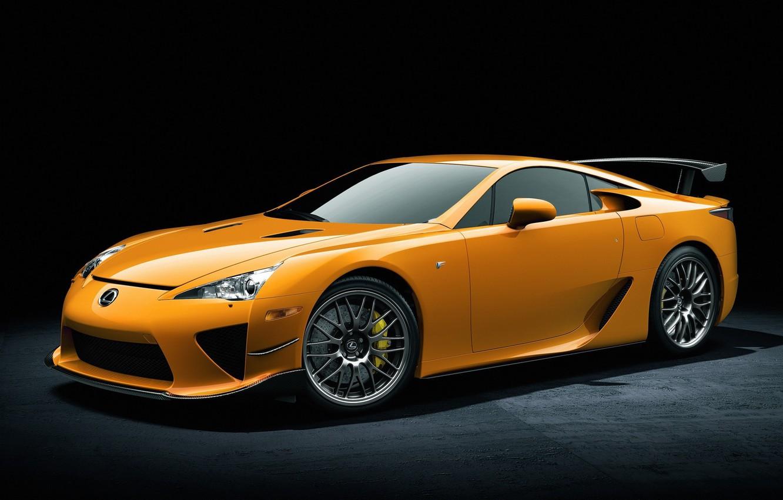 Photo wallpaper machine, widescreen, cars, yellow, lexus lfa, yellow Lexus