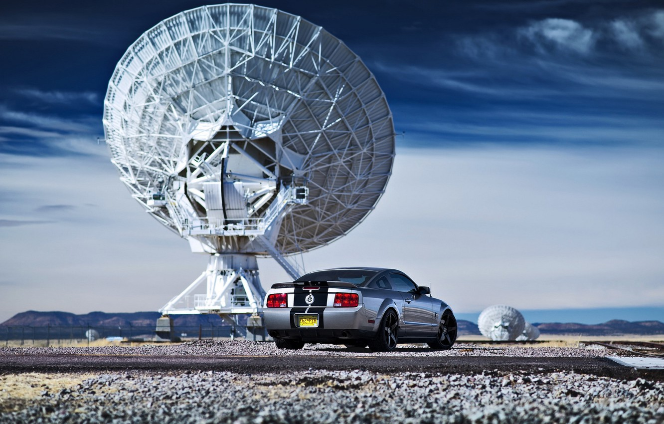 Photo wallpaper car, antenna, Ford, ford mustang, radar, lunchbox photoworks