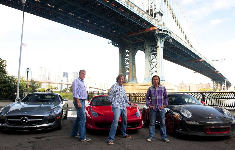 Photo wallpaper bridge, Mercedes-Benz, 911, Porsche, Jeremy Clarkson, Ferrari, men, 458, men, AMG, SLS, GT3, top gear, …