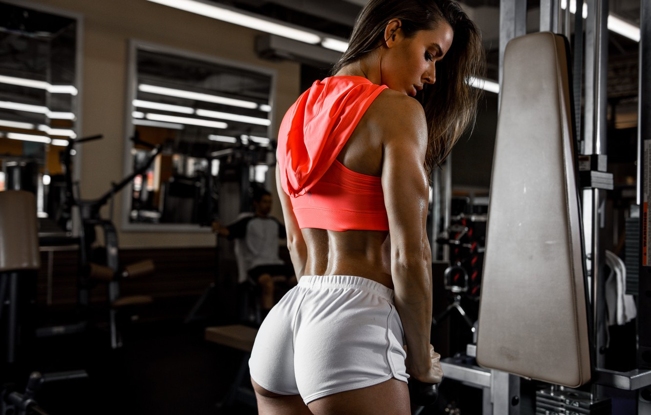 Photo wallpaper figure, Valentina, Fitness, trainer, the gym, sports style