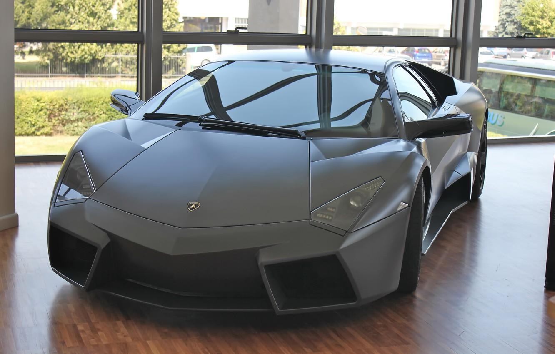 Photo wallpaper Lamborghini, Reventon, Room, Parquet