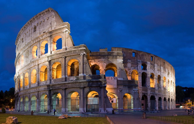 Photo wallpaper the sky, the evening, Rome, Colosseum, Italy, Colosseum, Rome