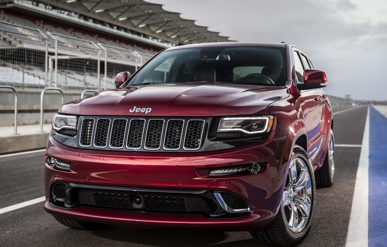 Photo wallpaper jeep, the front, SRT, Jeep, Grand Cherokee, powerful