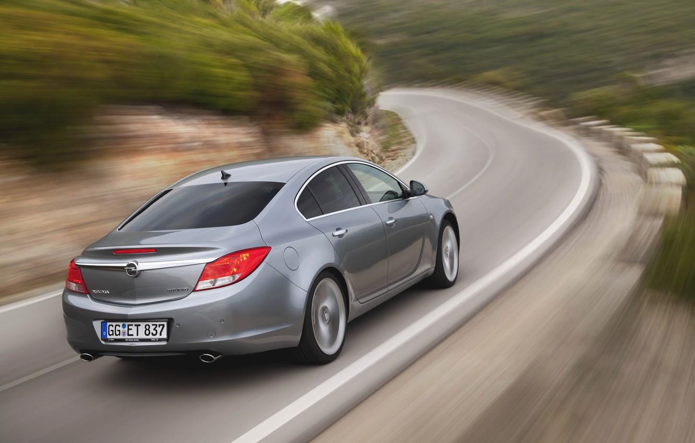Photo wallpaper Road, Machine, Grey, Opel, Insignia, Opel, Car, BiTurbo