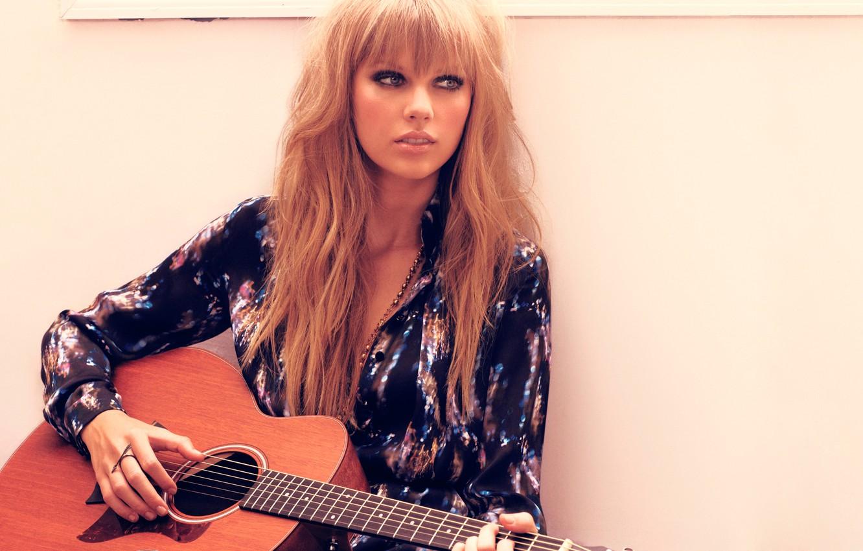 Photo wallpaper guitar, beauty, singer, Taylor Swift