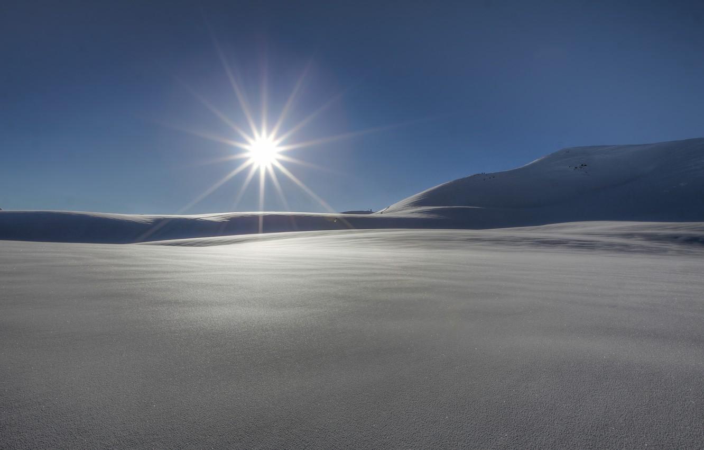Photo wallpaper winter, the sun, rays, snow, nature, background, widescreen, Wallpaper, wallpaper, nature, widescreen, winter, background, snow, …