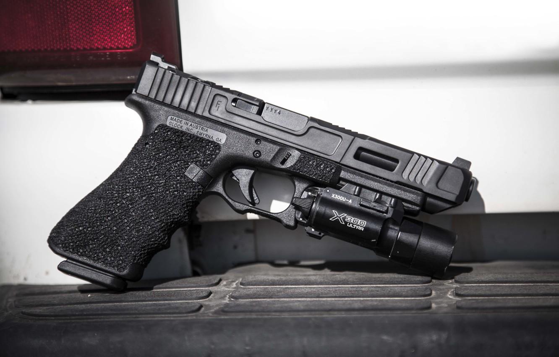 Photo wallpaper weapons, Austria, Glock 34, self-loading pistol