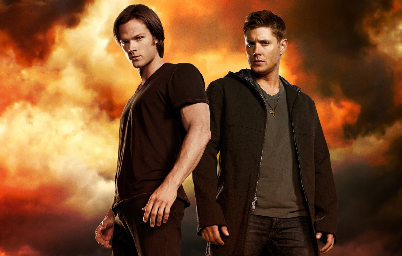 Photo wallpaper Supernatural, Jensen Ackles, Supernatural, Dean Winchester, Jared Padalecki, Sam Winchester, Jensen Ackles, Over The Padalecki …
