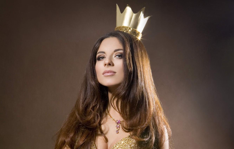 Photo wallpaper crown, Anna Pletneva, singer, Vintage