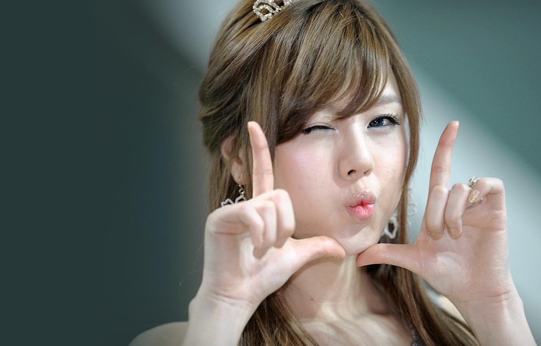 Photo wallpaper girl, photo, mood, Asian