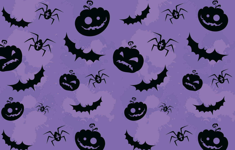 Photo wallpaper Pumpkin, texture, pattern, creepy, creepy, Halloween pumpkins, bats and spiders, bats and spiders, Textures