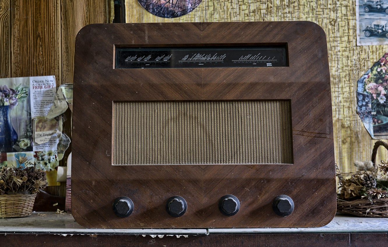 Photo wallpaper background, radio, receiver