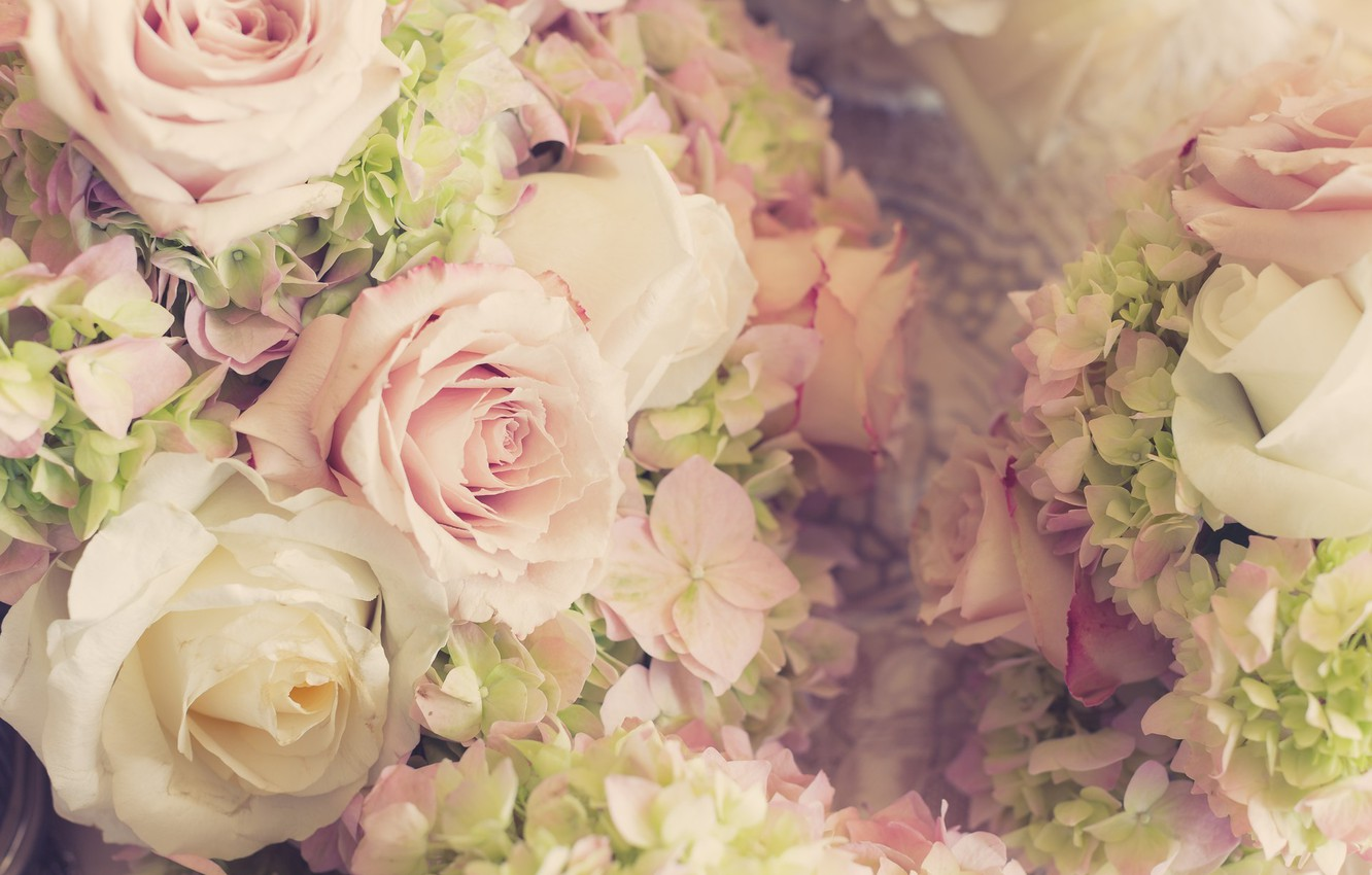 Photo wallpaper flowers, roses, bouquet, wedding, flowers, bouquet, roses, wedding