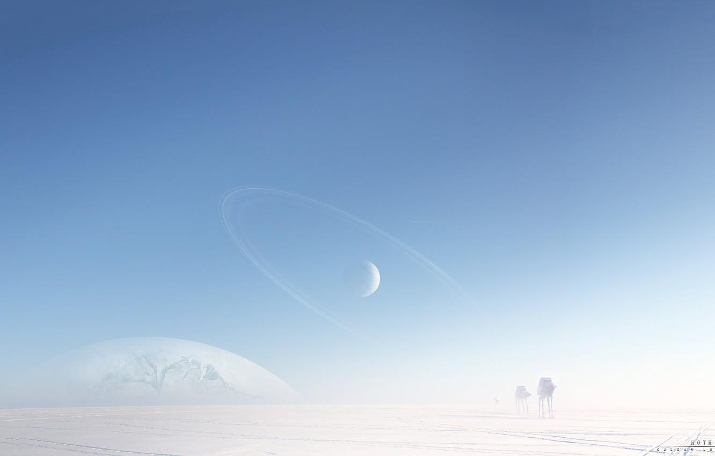 Photo wallpaper cold, snow, machine, robots, art, ice, star wars