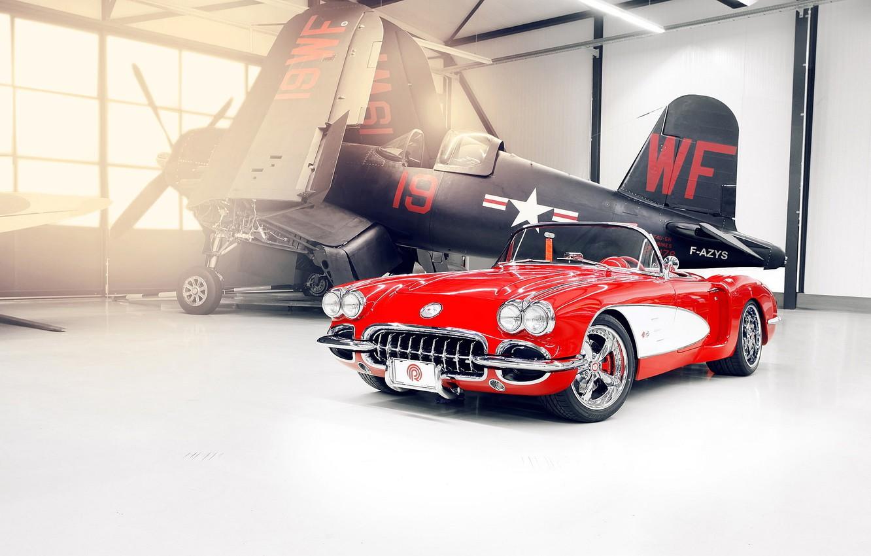 Photo wallpaper corvette, chevrolet, 1959