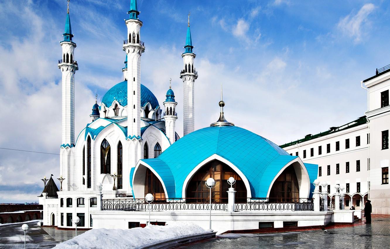 Photo wallpaper area, mosque, Kazan