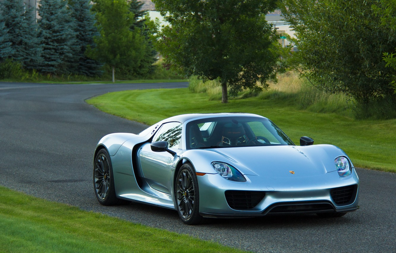 Photo wallpaper Porsche, road, Spyder, 918