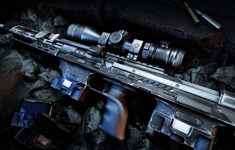 Photo wallpaper weapons, guns, cartridges, sniper rifle, Sniper Ghost Warrior 2, DSR-50