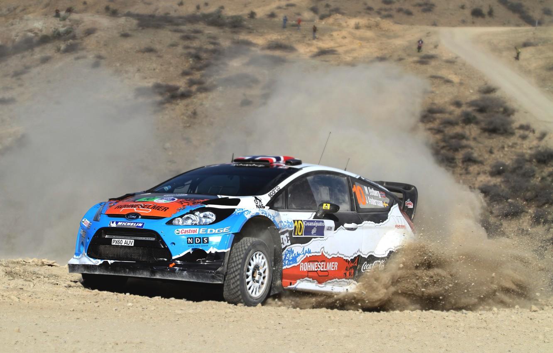 Photo wallpaper Ford, Auto, Dust, Sport, Machine, Speed, Turn, Ford, Race, Skid, Car, WRC, Rally, Rally, Fiesta, …
